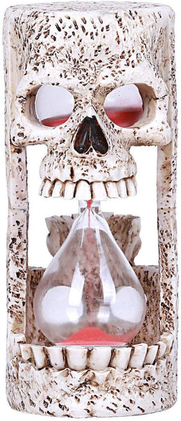Pacific Giftware Skull Head Sandtimer Collectible Open Mouth Hour Glass Skeleton Figure