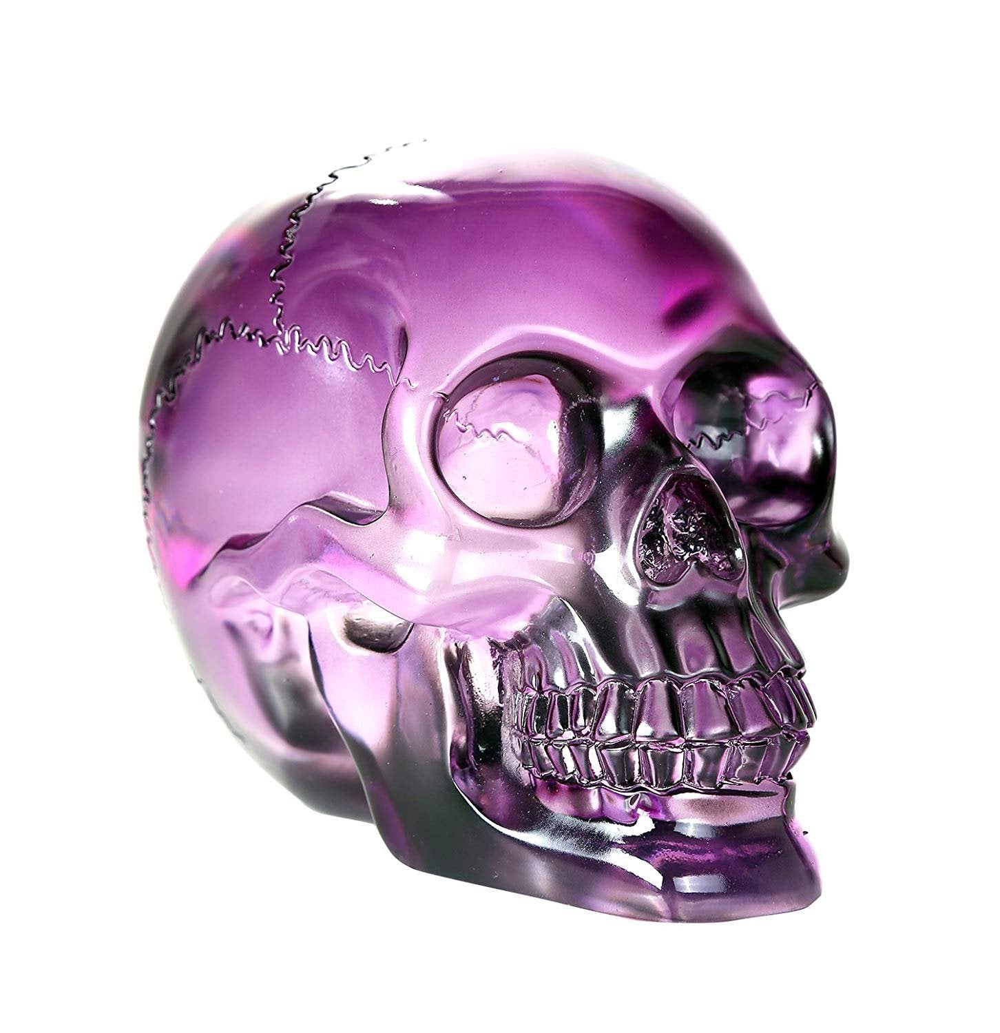 Pacific Giftware Crystal Clear Translucent Skull Collectible Figurine 4.5 Inch
