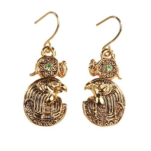 Egyptian Ra Golden Pewter Earrings Jewelry- Mystica Collection