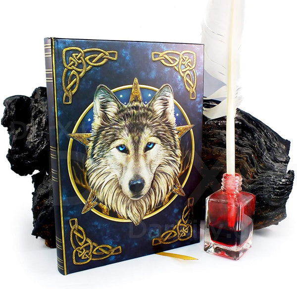 Artist Lisa Parker The Wild One Wolf & Celtic Knot Embossed Journal By Lisa Parker