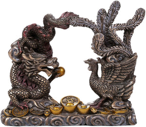 Pacific Giftware Feng Shui Dragon and Phoenix Celestial Perfect Couple Auspicious Marital Bliss Figurine
