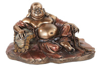 PTC 11.38 Inch Happy Buddha with Good Fortune Resin Statue Figurine