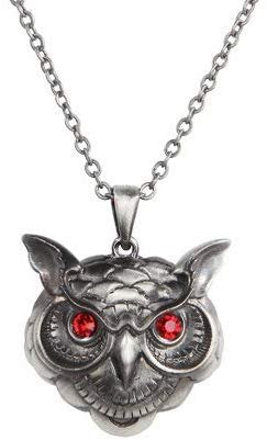 Pacific Giftware Wise Owl Head Pewter Necklace Jewelry- Mystica Collection