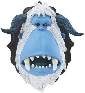 Blue Yeti Snow Creature with Horn Decorative Wall Art Plaque