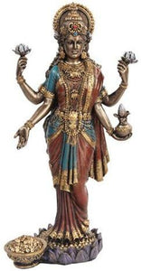 PTC 10 Inch Lakshmi Mythological Indian Hindu Goddess Statue Figurine