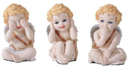 Pacific Giftware 3.5 inches See, Hear, Speak No Evil Love Cupids [Set of 3]
