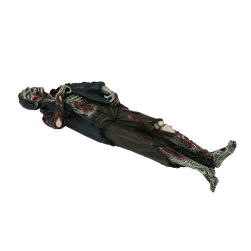 "PTC Zombie Laying Dead Resin Incense Burner Statue Figurine, 10"" L"