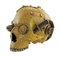 Pacific Giftware Cool Steampunk Design Human Skull Statue Sci-Fi