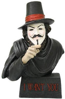 "Pacific Trading Giftware Guy Fawkes Bust Also Known as Guido Fawkes Collectible Made of Polyresin, 7.25"" H"