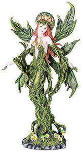 Pacific Giftware Forest Fairy Greenwoman Hand Painted Resin Figurine Statue