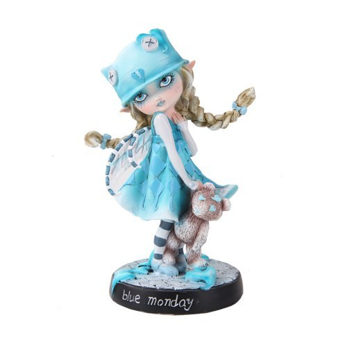 Pacific Giftware Dolly Fae Collection:Blue Monday Fairy with Love Heart Teddy Bear