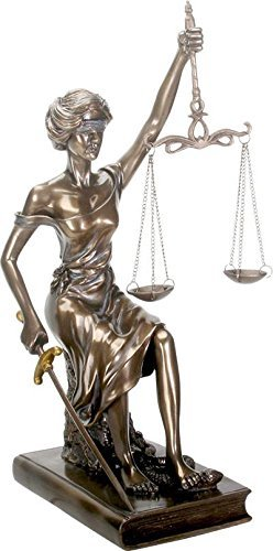 SUMMIT COLLECTION Sitting Lady Justice with Sword and Balance Statue