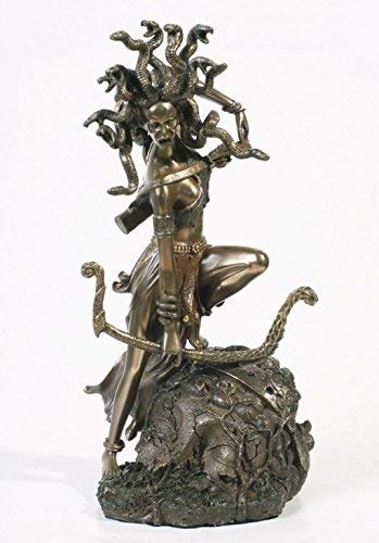 Medusa Greek Statue Figurine Mythology Gorgon