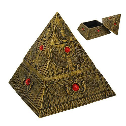7.25 Inch Egyptian Pyramid Structure Mythological Statue Figurine