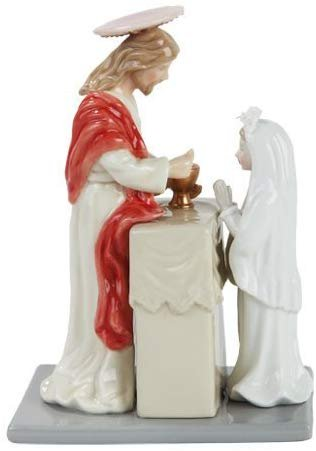 PTC 7.25 Inch Jesus with Communion Girl Religious Statue Figurine