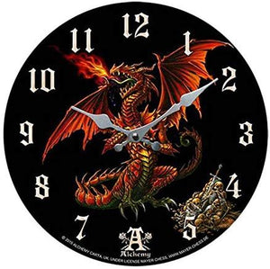 Theothalax Draconis Decorative Wall Clock Round Plate Diameter 13.5""