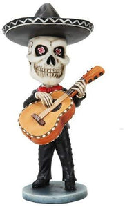 Pacific Trading Skeleton Mariachi Guitarron Player Day of The Dead Bobblehead Toy