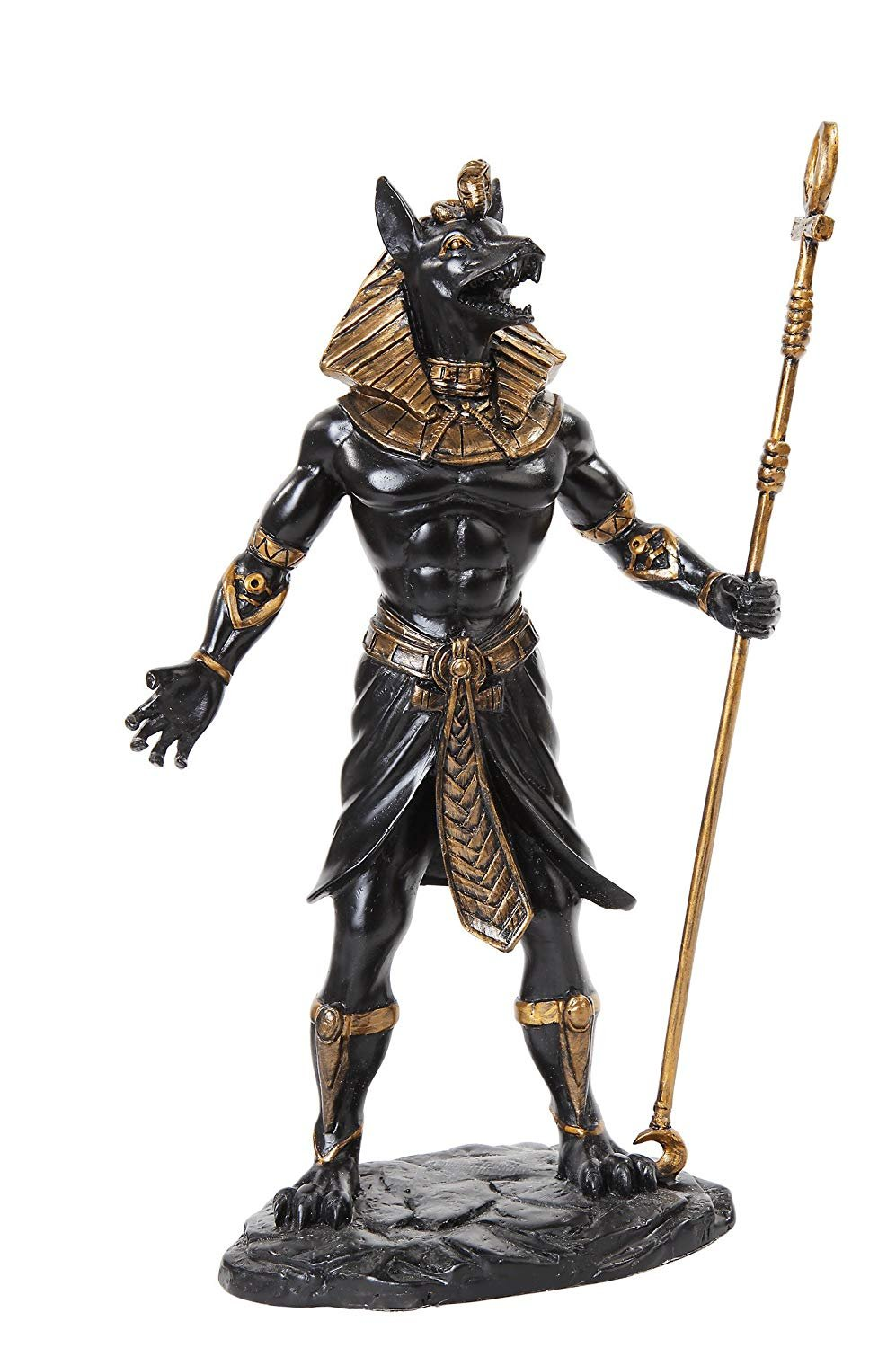 PTC 10.38 Inch Egyptian Anubis Mythological Black Finish Statue Figurine