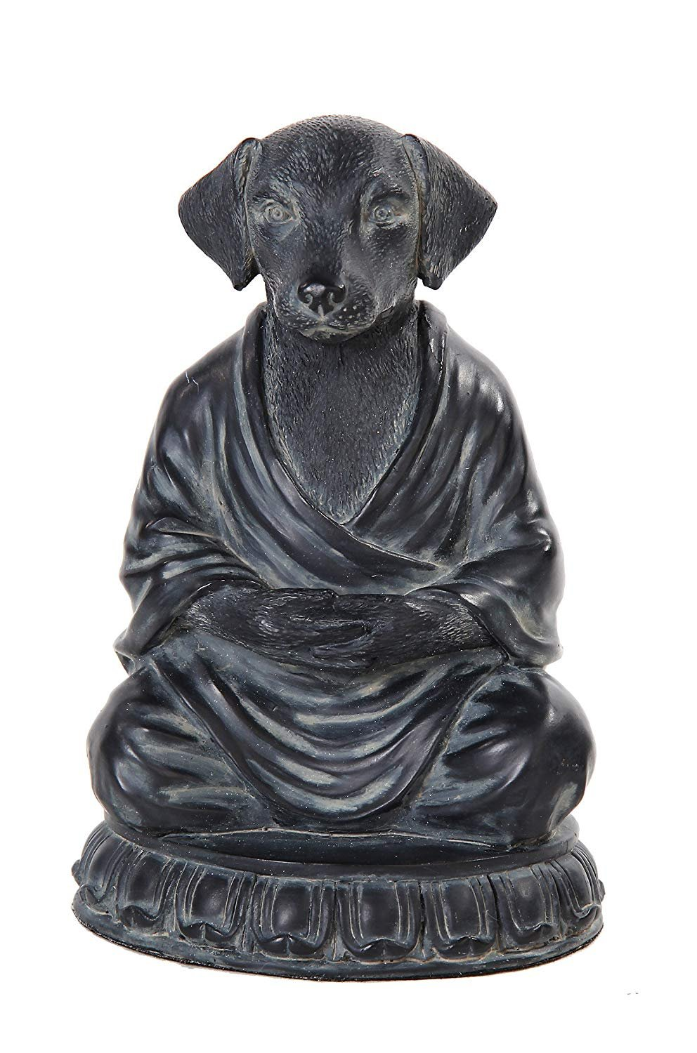 Relaxing Meditating Dog Decorative Tabletop Figurine, 6 inch