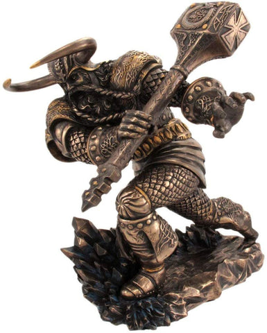 PTC Mighty Thor with Hammer Norse Mythology God Resin Statue Figurine