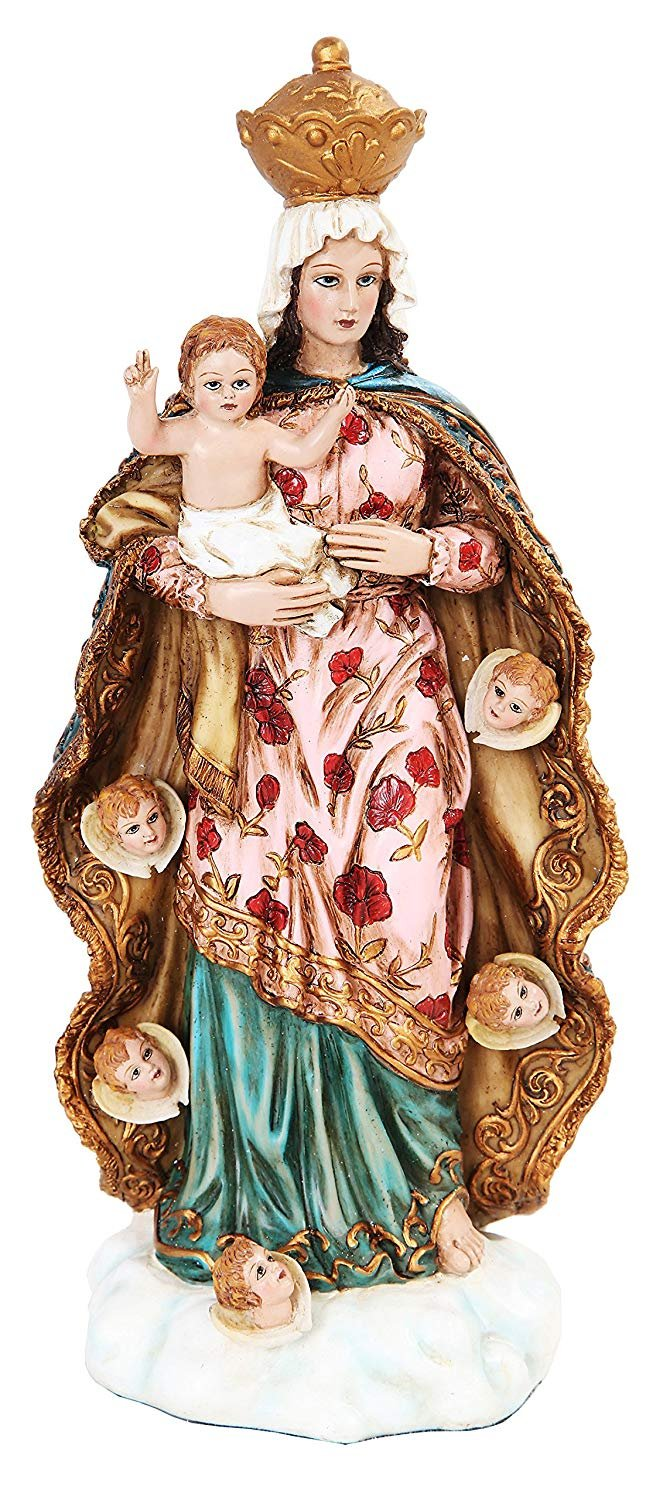PTC 10 Inch Our Lady of Angels with Baby Jesus Religious Statue Figurine