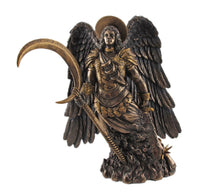 PTC 10 Inch Archangel Gabriel with Moon Spear Religious Statue Figurine
