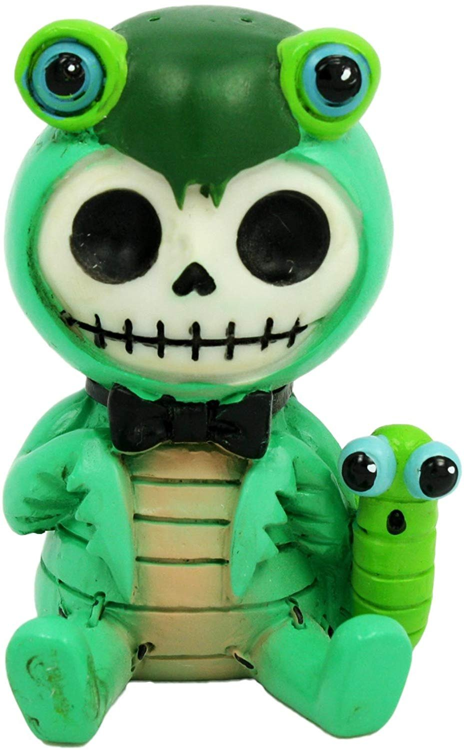 SUMMIT COLLECTION Furrybones Manny Signature Skeleton in Praying Mantis Costume with Worm