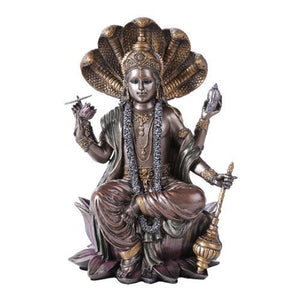Eastern Hindu God Vishnu Decorative Statue Narayana the Preserver and Protector Figurine Panchayatana Puja Supreme Deity Enlightenment