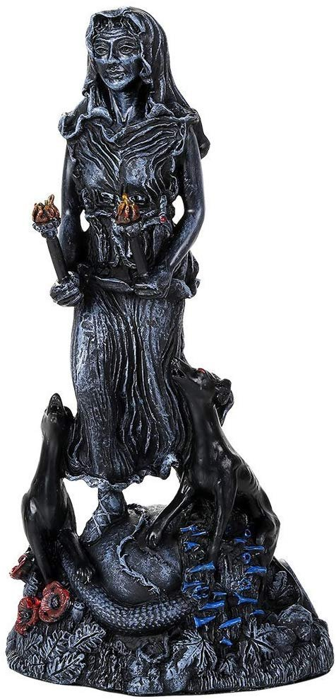 Pacific Giftware Hecate Goddess Figurine Statue Designed by Oberon Zell 9.5 Inch Tall