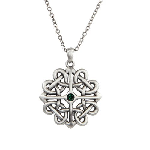 Celtic Flower Pewter Necklace Jewelry- Mystica Collection