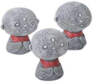 SUMMIT COLLECTION Eastern Enlightenment Playful Jizo Monks Red Bibs (Set of 3) Collectible