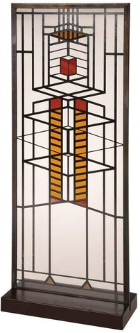"Frank Lloyd Wright Robie Window Stained Glass - 14"" x 5.75"""