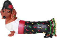 Pacific Giftware Beauty Red Hot Senorita Doxy Collectible Wiener Dog Dachshund Figurine