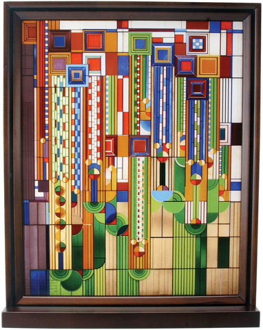 Frank Lloyd Wright Cactus Flowers Stained Glass