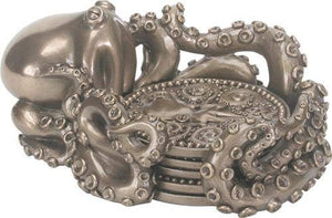 KRAKEN COASTER HOLDER WITH COASTERS (SET OF 4)