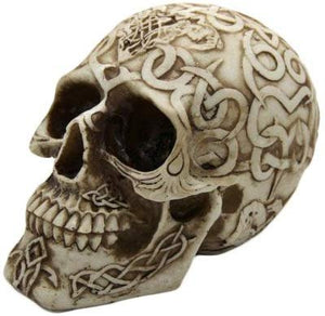 Celtic Tattoo Skull Collectible Figurine