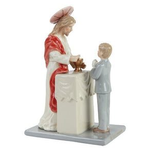 7.25 Inch Jesus with Communion Boy Religious Statue Figurine