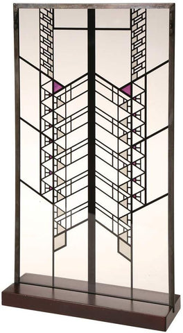 "Frank Lloyd Wright Hollyhock House Stained Glass - 14"" x 7.75"""