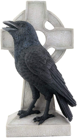Raven on Cross Figurine Display