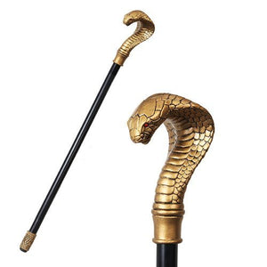 ANCIENT EGYPTIAN CULTURE COBRA SNAKE WALKING CANE PROP ACCESSORY .