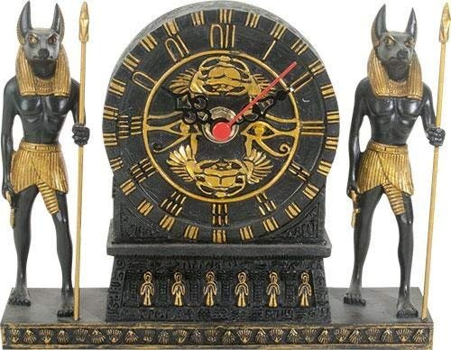 Summit Collection Ancient Egypt Home Decor Anubis Clock