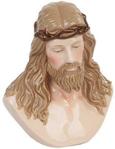 5.13 Inch Jesus Crown of Thorns Fine Porcelain Bust Figurine