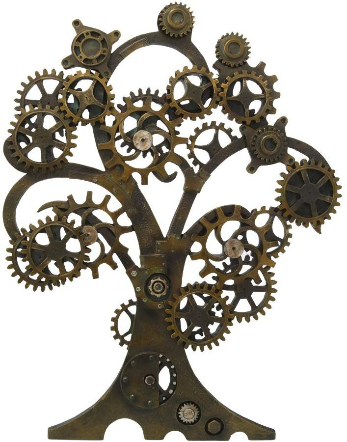 Pacific Giftware Steampunk Collectible Gearwork Mechanical Tree of Life Wall Sculpture Decorative Plaque 20 Inch Tall