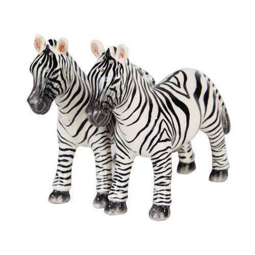 "1 X 3.75""H Animal Kingdom Zebras Magnetic Salt & Pepper Shakers -Attractives Collection"