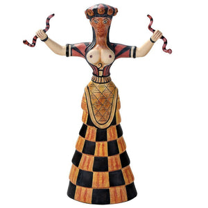 Pacific Giftware Cretan Snake Goddess Figurine Statue Designed by Oberon Zell 10.75 Inch Tall