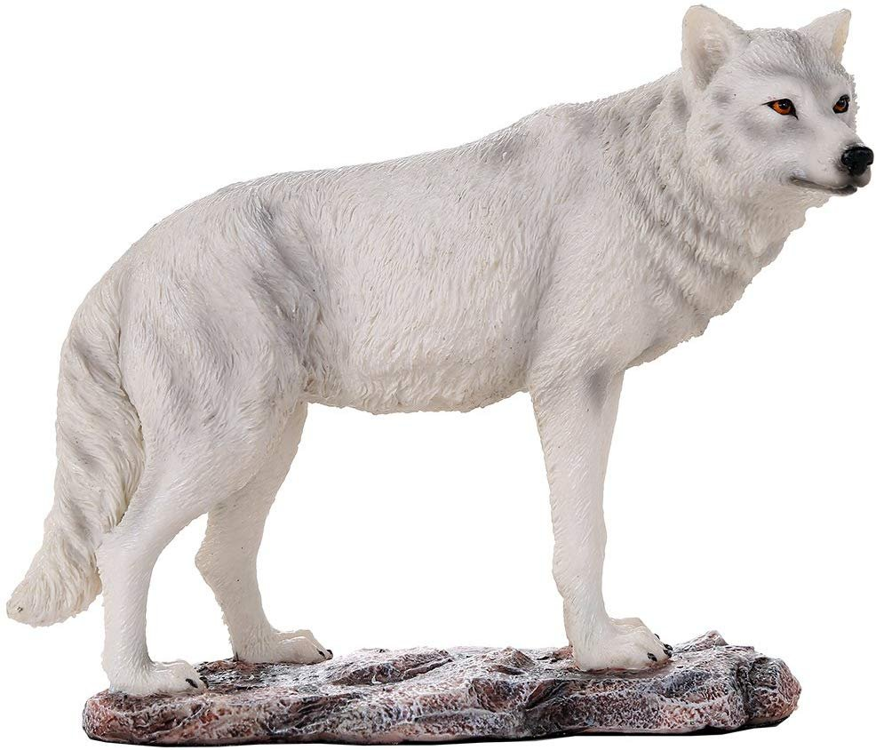Pacific Giftware Majestic Lone White Wolf Collectible Figurine Statue Home Decor Gift
