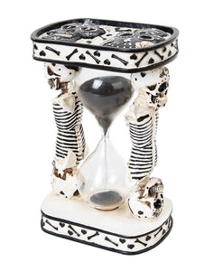 PTC 6.13 Inch White Day of The Dead Sand Timer Hourglass Statue Figurine
