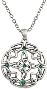 Celtic Round Pewter Necklace Jewelry- Mystica Collection
