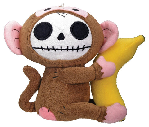 Furrybones Monkey Munky Holding onto Banana Small Plush Doll
