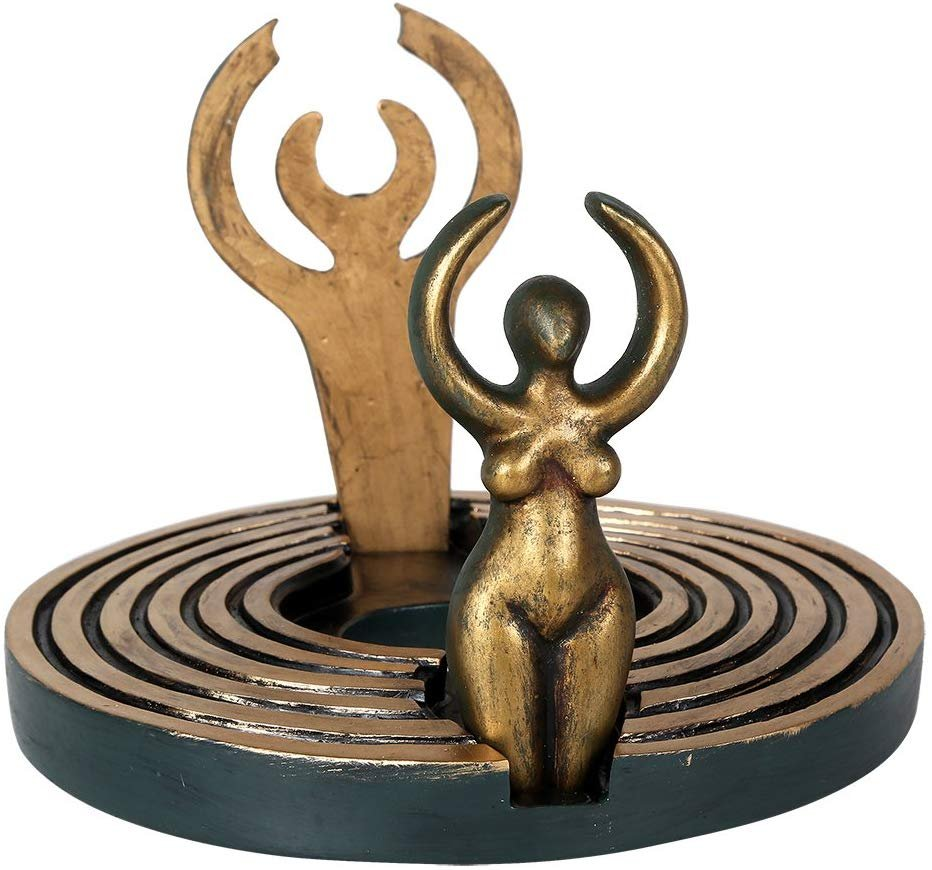 Pacific Giftware Dearinth Mini Altar Designed by Oberon Zell Mythic Images 5.5 Inch Diameter